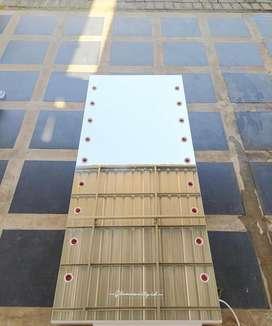 Kaca Mirror uk 160x60cm ( free bola lampu )
