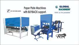Monthly Income Fixed Returns Install Paper Plate Machine with Buyback.
