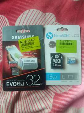 Samsung 32gb and hp 16gb memory card
