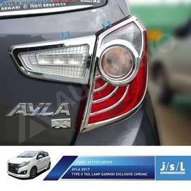 Garnish Lampu Belakang type X Mobil : NEW AYLA