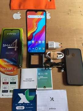 Infinix smart 4 ram2/32 fulset btre awet normal semua nokendala