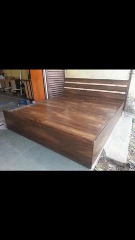 Brand New  Wooden Bed  (Finish Colour - Brown)