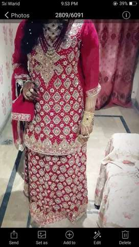 Bridal lehnga in good condition only one time  used