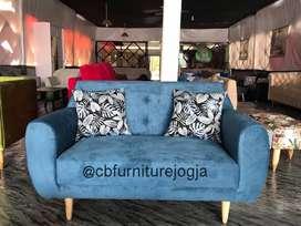 Sofa 2 seater Scandinavian Harga Ekonomiss