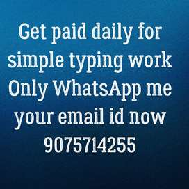 Online typing work for retired people