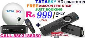 TaTa Sky DTH New HD CONNECTION Amazon Fire Stick Free