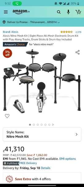 Electric drums alesis nitro mesh 8