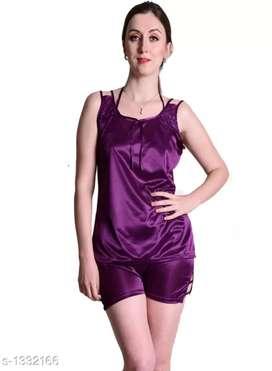 Comfy Women's Satin  Night Suit set