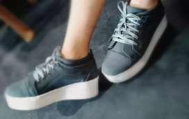 High Heel Sneakers for Women ( Grey)