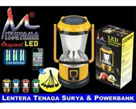 Lentera Jumbo Multifungsi - Rechargeable dan Tenaga Surya