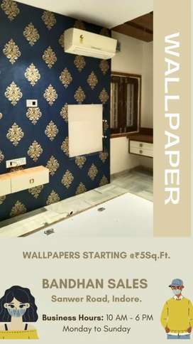 Wallpapers Starting @5₹sq.ft