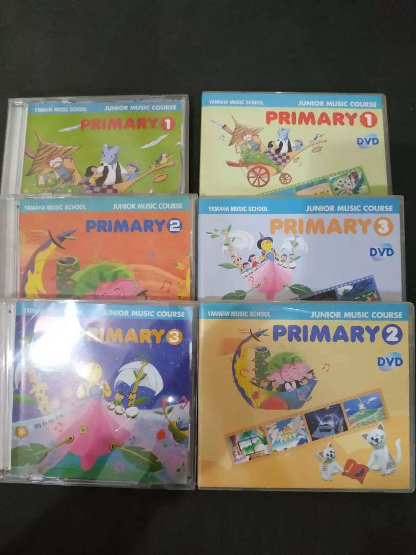 CD - DVD Yamaha Music Course JMC level 1-3 ORI, bagus, rapi, terawat
