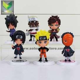 Karakter Kartun Aksi Action Figure Naruto 6 PCS - Model 19