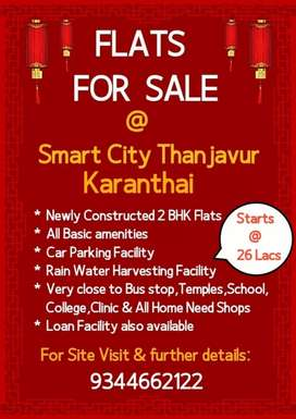 5 Flats for sale in karanthai -thanjavur