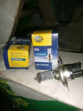 Lampu hella H4 standart 24volt 75/70 watt