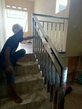 Railing tangga dan balkon stainless #74