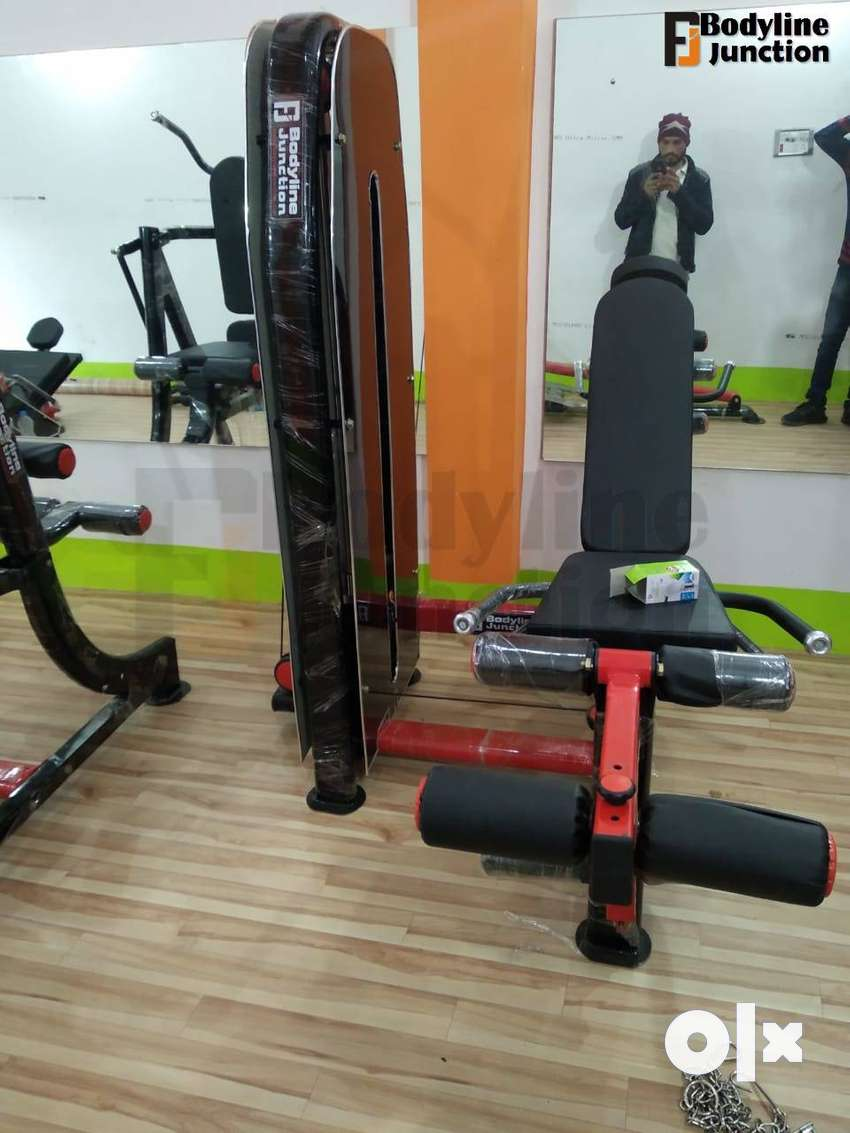 Get heavy duty full commercial gym equipment machine setup.