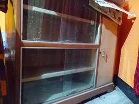 Steel cupboard-cum-showcase