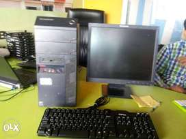 Branded used Lenovo tower core I3 4th gen 4gb ram 500 gb hdd 19 inch l