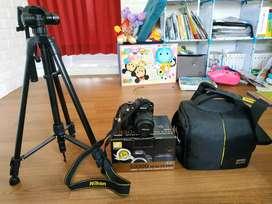 Kamera DSLR SLR Nikon D3300 Fullset Paket Komplit