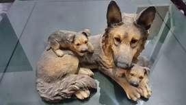 Patung pajangan anjing herder