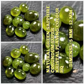 BATU NATURAL GREEN SAFIR / CORUNDUM