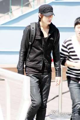 Jaket Pria, Jaket Keren, Jaket Comby Leather Black LMH Korean Style