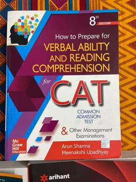 CAT Mba books in almost new condition