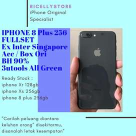 Iphone 8 plus 256gb Fullset Ori Bh 90