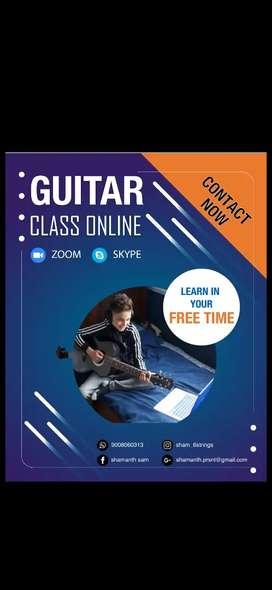 Online & offline guitar class through zoom. Indivitual classes also