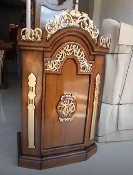 mimbar masjid bahan jati laris