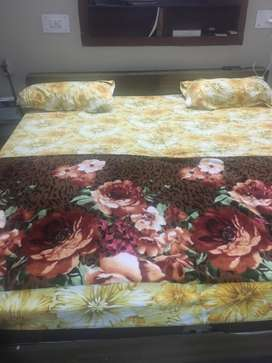Pure Teak Double Bed with Mattress