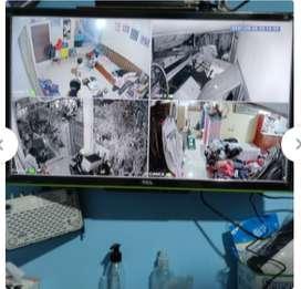 Paket cctv 4 CHANNEL 4 kamera 1080P 2MP tinggal pasang – gratis HARDIS