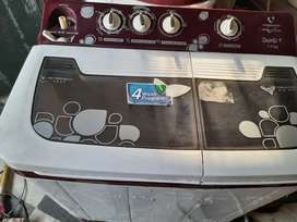 7.3 kg. 5 year extend warranty with bill. 2 years old washing machine.