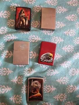 Set of 5 Original Zippo Lighters