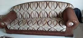 Teakwood frame 4 seater sofa