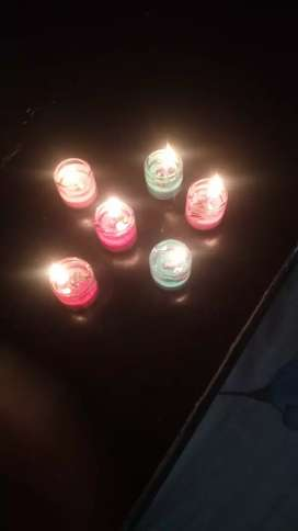 Mini gel candle decoration product
