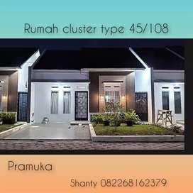 Rumah cluster type 45/108 asri