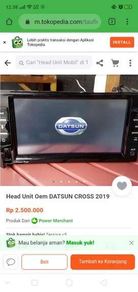 Head unit Datsun go facelift 2019