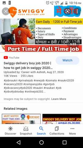 @Hiring for swiggy food delivery boys at kharkhan a@