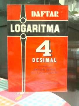 Buku Daftar Logaritma 4 Desimal dengan daftar bunga delapan desimal .