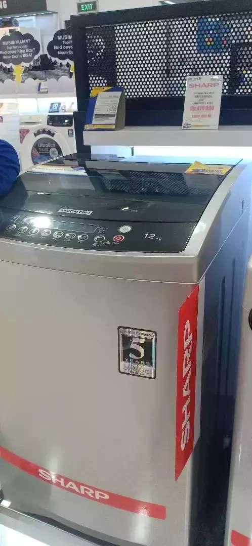 Mesin Cuci Sharp 12kg ESF1208XS top loading inverter Kredit tanpa CC 0