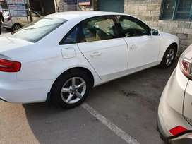 Audi A4 white with sunroof