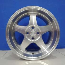 Cicil Velg Mobil Jazz Ignis DP 10% Ring 16 HSR LOUD H4X100 Silver
