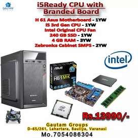 NEW READY CPU i5 3rd GEN H61BORD ASUS 240Gb SSD 4gb RAM CABINET SMPS