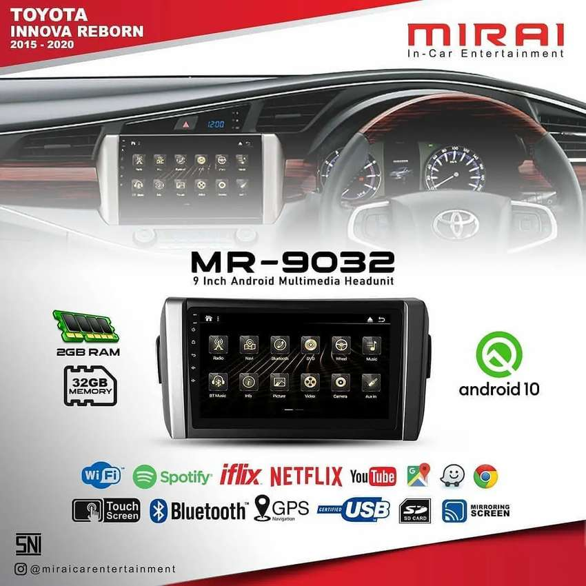 Headunit Android Mirai MR 9032 Pnp All New Innova Reborn Maps YouTube