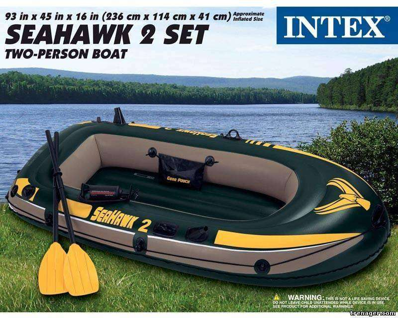 Intex Seahawk 2, 2-Person Inflatable Boat Set 0