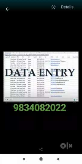 Home based data typing work job
