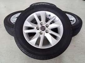 Velg Bekas Mobil Toyota Innova Reborn Ring 16 + Ban Achilles 205/65/16