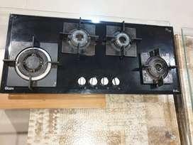 Glen 4 burner hobtop, black glass, very good condition